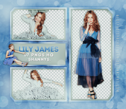 Png Pack 1032 - Lily James by xbestphotopackseverr