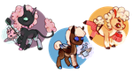 [[adoptables]] | [OPEN 1/3] | chibi candy pons by SevenSpirals