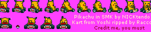 Pikachu in Super Mario Kart by CyberMaroon