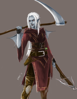 R: Daemon-blooded Dark Elf Sorceress by bchart