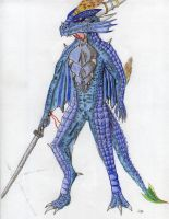 Seevadji the Half Dragon Argonian (with bio) by Drohung-DragonNinja