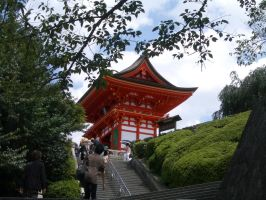 Japan temple stairs by CAStock