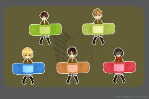 Snk Bandaids by thehairypeach