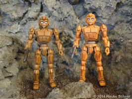 3D printed robot action figure update by hauke3000