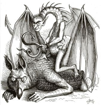 Hell Quest - Astaroth (Old school illustration) by DoctorChevlong