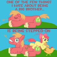 Big Brother Being Bothered by SparkyThePegasus