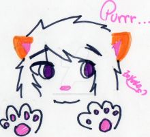 Cute and furry paws by ZorokoTheKitty
