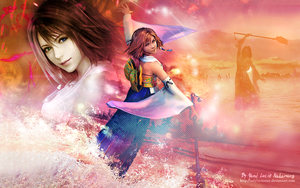 Yuna FFX [The sending] wallpaper by ladylucienne