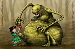 Monster Apple 3 COLOR by JeremiahLambertArt