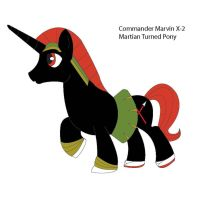 Comm. Marvin X-2 Pony Form by dragonia24
