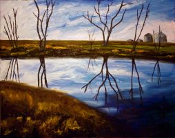 Reflection - Painting by fireflyskys