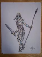 Celtic Warrior Chick by MChampion