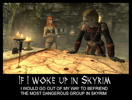 If I woke up in Skyrim 3 by Cinn-Ransome