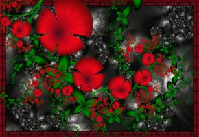 Red Flowers.. by LaxmiJayaraj