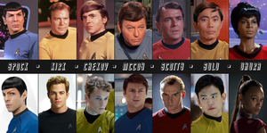 Star Trek: Actors by SacredLugia