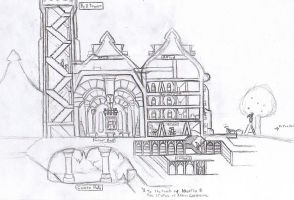 Redwall Game: Abbey Concept 1 by Aliies