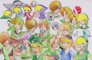 Link through the ages by XEmoMidnaX