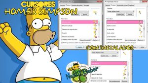 Homer Simpson Cursors by Cursorsandmore