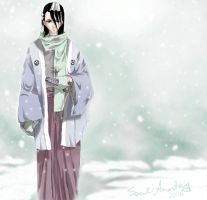 Winter Byakuya by wormmonsoul