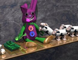 Drunken Bunny Toy by H-o-t-G-o-d
