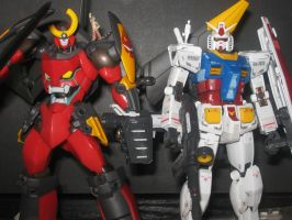 Gurren Lagann meets RX-78-2 by allaboutnothing