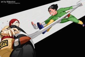 Gaara vs Rock Lee by Maganius