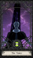 Ben 10 Tarot- 16. The Tower by CheshireP