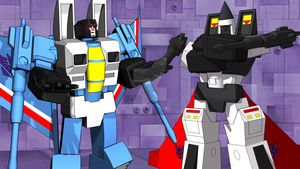 Thundercracker w Ramjet by kaxblastard