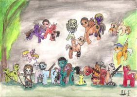 The Walking Dead ponies by hatoola13