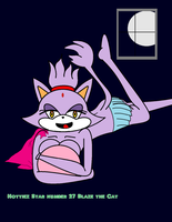 Hottiez page 27 Blaze the cat by MasterghostUnlimited