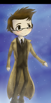 Chibi 10th Doctor by X-x-OcToBeR-x-X