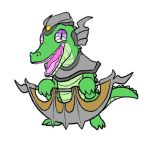 Gummy renekton coloured by crocodile-rules-all