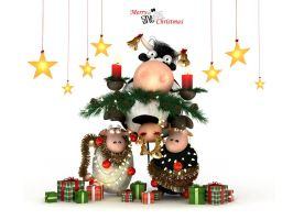 Sheeps Xmas Tree by bsign