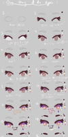How I paint eyes atm by GlucoseGlutton