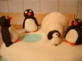 Penguin Birthday Cake by zamor438