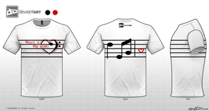 Music Is My Heart T-Shirt Design by x3Strawb3rry
