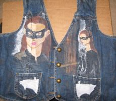 The Dark Knight Rises Catwoman Jean Vest by ange-etrange