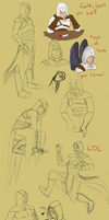 Altair doodle dump by LilayM
