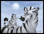 Striped Hello by DolphyDolphiana