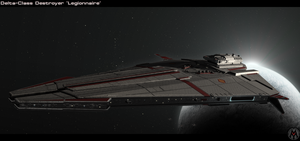 Delta-Class Destroyer - Legionnaire by MikomDude