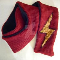 Lightning Bolt Scarf by GrayOvercast