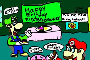 Happy Birthday nintendrawer by FuryX-4