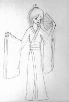 Geisha WIP by Anime-Angel1259
