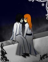 .:Ulquiorra and Orihime:. by LuziWonka