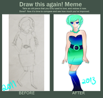 Before And After (Draw This Again Meme) by sogsaveourgreys