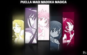 Puella Magi Madoka Magica - The Magic Five by Galaxyart