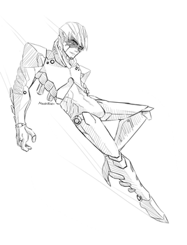 Android Boy (Outline Concept) by MashiNabi