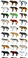 FULL Wolf Pointables Set 16 ( OPEN ) by KeitaroTGW