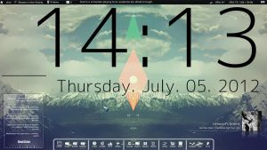 triangles and lines (current desktop theme) by fulllfrontal