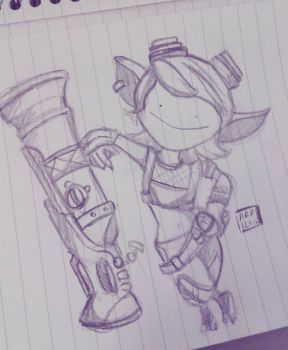 Derpy Tristana by uneflaneuse